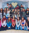 KEEP CALM AND MI  - Personalised Poster large