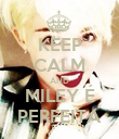 KEEP CALM AND MILEY É PERFEITA - Personalised Poster large
