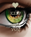 KEEP CALM AND MISS YOU - Personalised Poster large