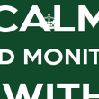 KEEP CALM AND MONITOR  WITH PIRENDO - Personalised Poster large