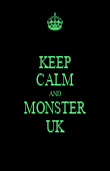 KEEP CALM AND MONSTER UK - Personalised Poster large