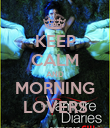 KEEP CALM AND MORNING LOVERS - Personalised Poster large