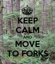 KEEP CALM AND MOVE TO FORKS - Personalised Poster large