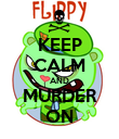 KEEP CALM AND MURDER ON - Personalised Poster large