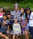 KEEP CALM AND MY FAMILY - Personalised Poster large