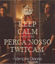 KEEP CALM AND NÃO PERCA NOSSO TWITCAM  - Personalised Poster large