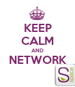 KEEP CALM AND NETWORK  - Personalised Poster large
