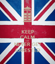 KEEP CALM AND NEVER GET ARRESTED - Personalised Poster large