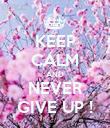 KEEP CALM AND NEVER GIVE UP ! - Personalised Poster large