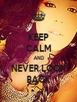 KEEP CALM AND NEVER LOOK BACK - Personalised Poster large