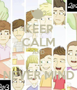 KEEP CALM AND ... NEVER MIND - Personalised Poster large