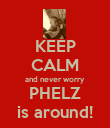 KEEP CALM and never worry PHELZ is around! - Personalised Poster large