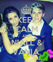 KEEP CALM AND NIALL & VANIA. - Personalised Poster large
