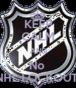 KEEP CALM AND No  NHL LOCKOUT  - Personalised Poster large