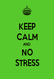 KEEP CALM AND  NO STRESS - Personalised Poster large