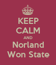 KEEP CALM AND Norland Won State - Personalised Poster large