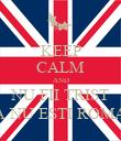 KEEP CALM AND NU FII TRIST CA NU ESTI ROMAN - Personalised Poster large