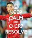 KEEP CALM AND O CR7 RESOLVE - Personalised Poster large