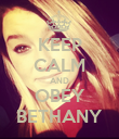 KEEP CALM AND OBEY BETHANY - Personalised Poster large