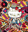 KEEP CALM AND OBEY GENESIS - Personalised Poster large