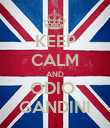 KEEP CALM AND ODIO  GANDINI - Personalised Poster large