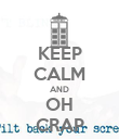 KEEP CALM AND OH CRAP - Personalised Poster large