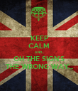 KEEP CALM AND... OH THE SIGN'S THE WRONG WAY... - Personalised Poster large