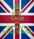 KEEP CALM AND OH WAIT... NIALL'S IRISH - Personalised Poster large