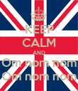 KEEP CALM AND Om nom nom Om nom nom - Personalised Large Wall Decal