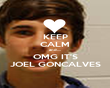 KEEP CALM and....  OMG IT'S JOEL GONCALVES - Personalised Poster large