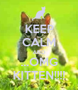 KEEP CALM AND ...OMG KITTEN!!!! - Personalised Poster large