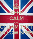 KEEP CALM AND OMG! LIAM TWITTER FOLLOW SPREE! - Personalised Poster large