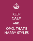 KEEP CALM AND.. OMG. THAT'S HARRY STYLES - Personalised Poster large