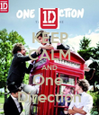 KEEP CALM AND One  Direction - Personalised Poster large