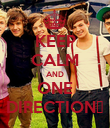 KEEP CALM AND ONE DIRECTION♥ - Personalised Poster large
