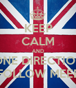 KEEP CALM AND ONE DIRECTION FOLLOW MEEE - Personalised Poster large
