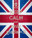 KEEP CALM AND only giada <3 - Personalised Poster large