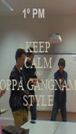 KEEP CALM AND OPPA GANGNAM STYLE - Personalised Poster large