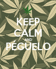KEEP CALM AND PÉGUELO  - Personalised Poster large