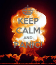 KEEP CALM AND PANIC!  - Personalised Poster large
