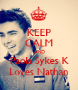 KEEP CALM AND Paola Sykes K Loves Nathan - Personalised Poster small