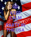KEEP CALM AND PARTY IN THE USA - Personalised Poster large