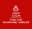 KEEP CALM AND PARTY ON FOR THE DIAMOND JUBILEE - Personalised Poster large