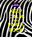 KEEP CALM AND PARTY ROCK - Personalised Poster large