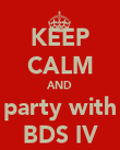 KEEP CALM AND party with BDS IV - Personalised Poster large