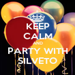 KEEP CALM AND PARTY WITH SILVETO - Personalised Poster small
