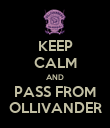 KEEP CALM AND PASS FROM OLLIVANDER - Personalised Poster large