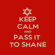 KEEP CALM AND PASS IT  TO SHANE - Personalised Poster large