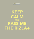 KEEP CALM AND PASS ME THE RIZLA+ - Personalised Poster large