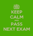KEEP CALM AND PASS NEXT EXAM - Personalised Poster large